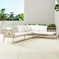 Le Rve Right Arm Sectional With Ten Pillows CB2