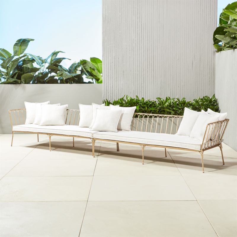 Modern White Outdoor Furniture unique outdoor furniture and decor | cb2