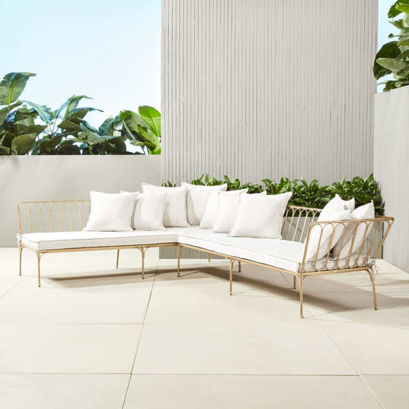 elegant outdoor furniture. le rve right arm sectional with ten pillows elegant outdoor furniture w