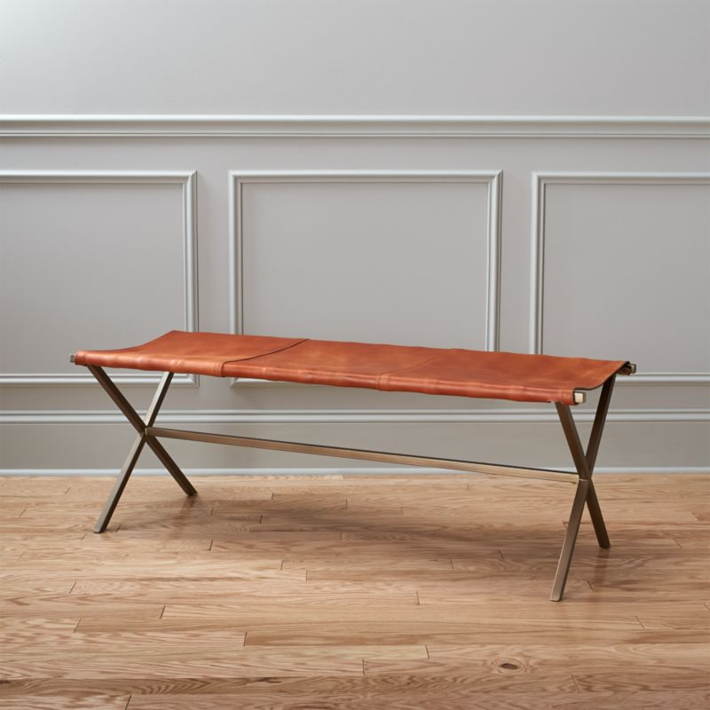 Hokku Designs Revionna Two Seat Bench With Storage: Directors Brown Leather Bench + Reviews