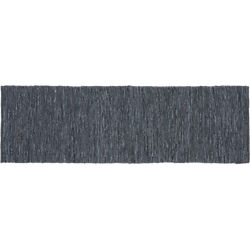 Grey Leather Salvage Runner 2.5'x8'