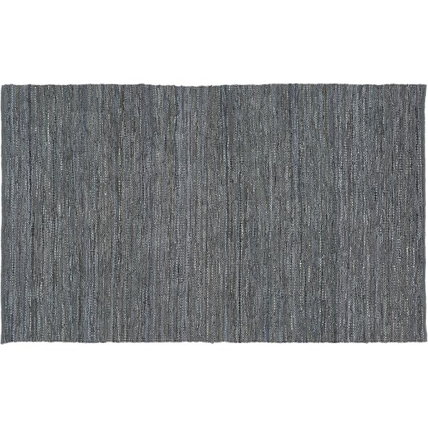 Grey Leather Salvage Rug 8'x10'