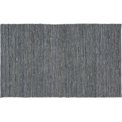 Grey Leather Salvage Rug 5'x8'