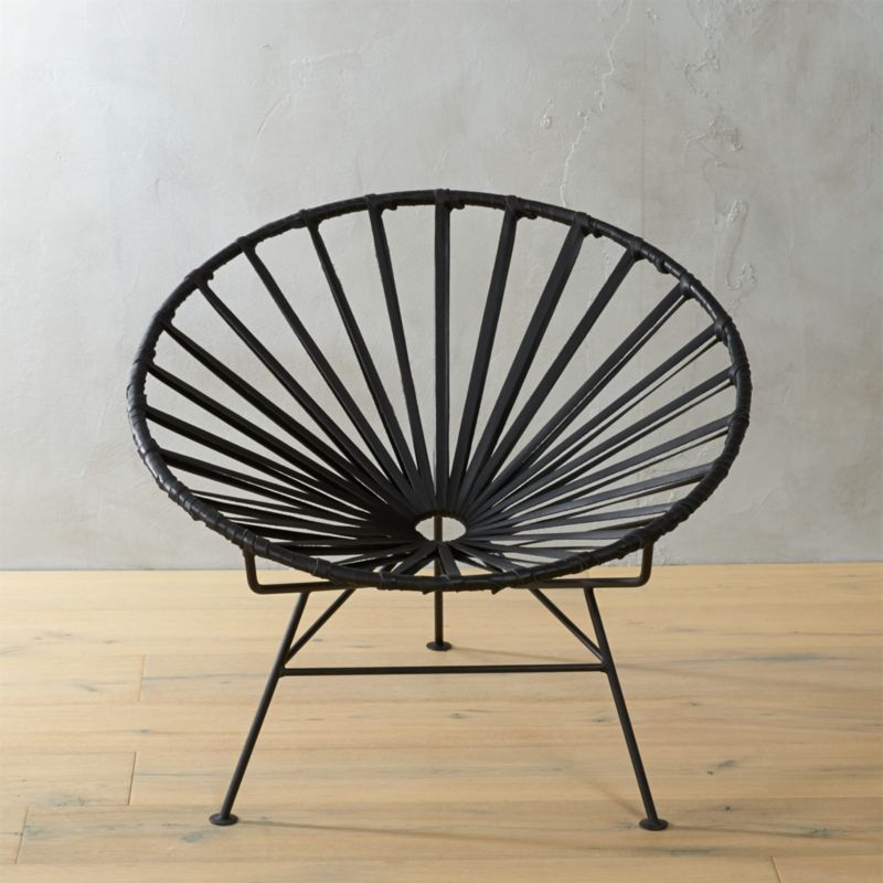 Circle Chair sayulita black circle chair | cb2