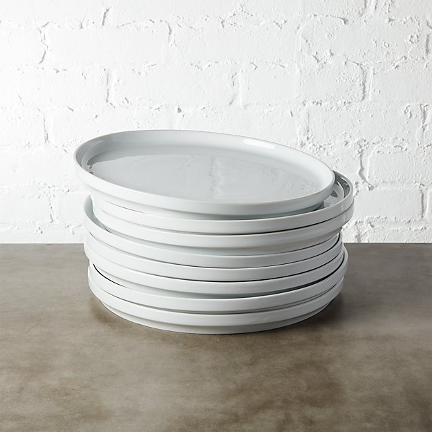 set of 8 ledge dinner plates