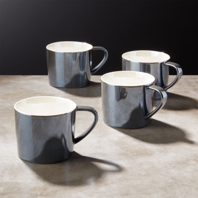 the office mugs. Legend Luster Grey Coffee Mugs Set Of 4 The Office