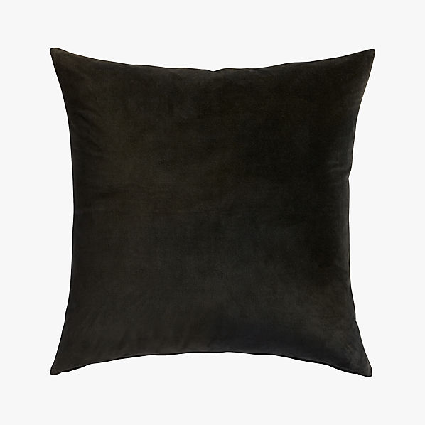 LeisureBlackPillow23x23S16