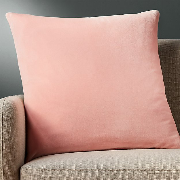 "23"" leisure blush pillow with feather-down insert"