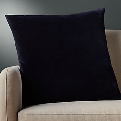 "23"" leisure navy pillow with down-alternative insert"