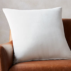 "23"" leisure white pillow with down-alternative insert"