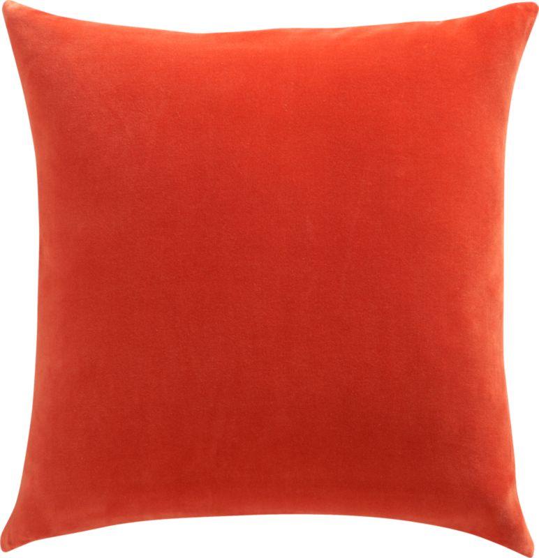 "leisure burnt orange 23"" pillow with down-alternative insert"