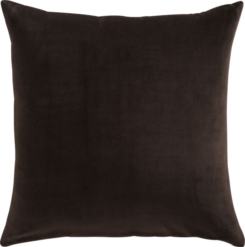 "leisure carbon 23"" pillow with feather-down insert"