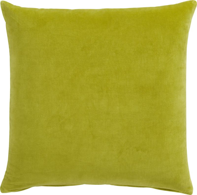 "leisure sprout 23"" pillow with feather insert"