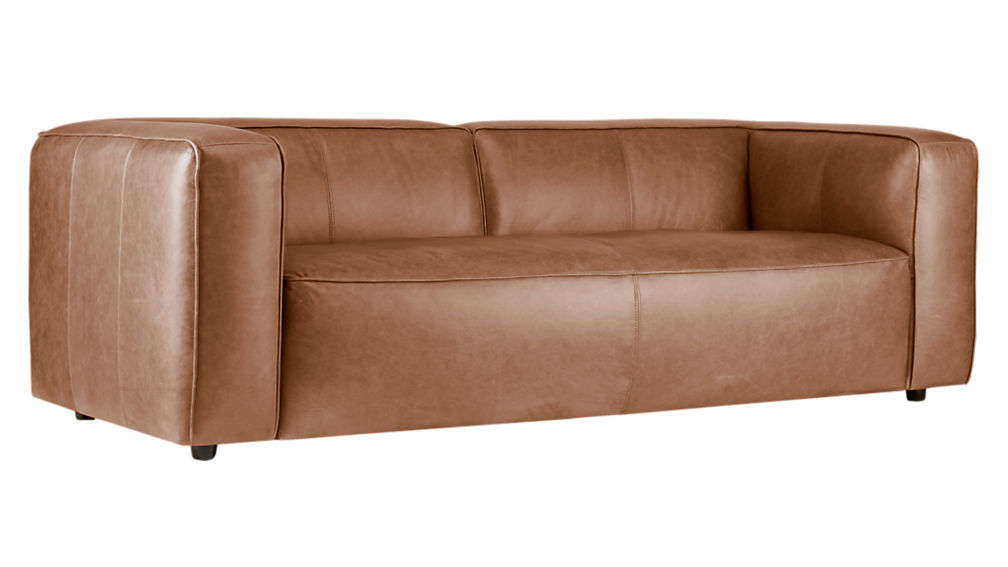 Lenyx overstuffed leather sofa cb2 for Cb2 leather sectional