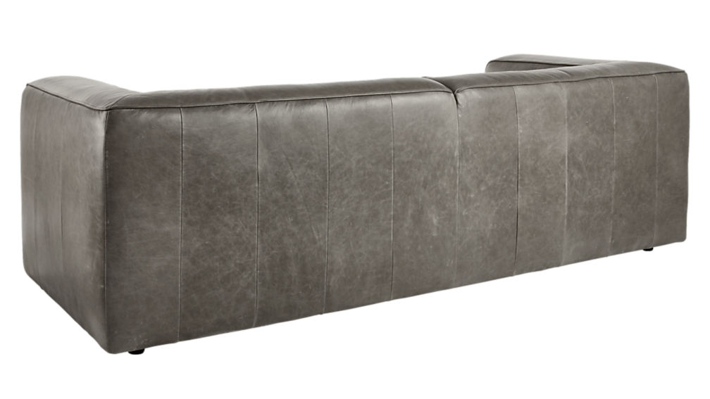 Lenyx Grey Leather Sofa