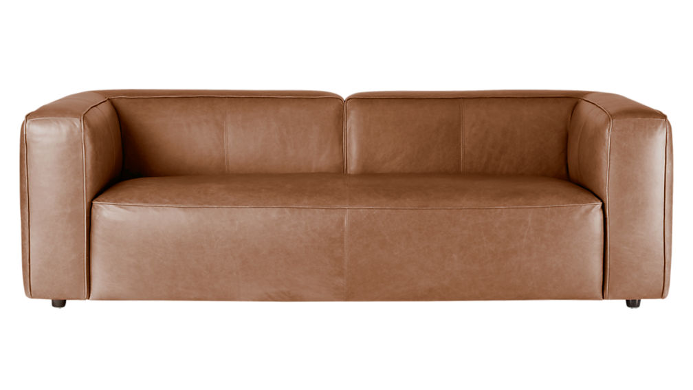 Lenyx leather sofa cb2 for Cb2 leather sectional