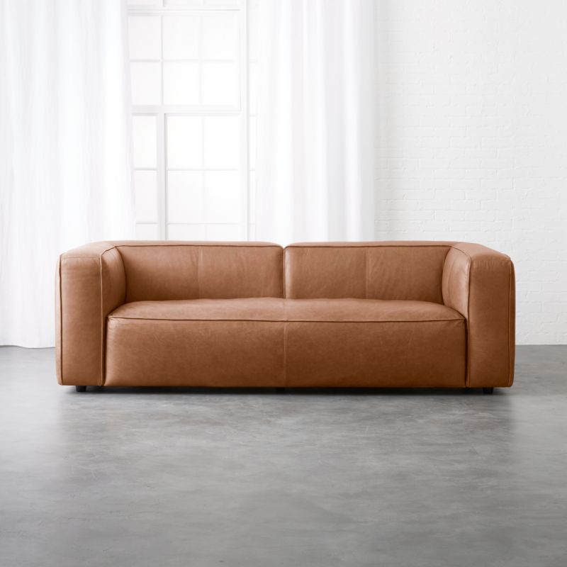 lenyx cognac leather sofa. Modern Lobby Furniture   CB2