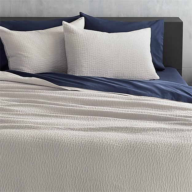lilo silver-grey full/queen coverlet