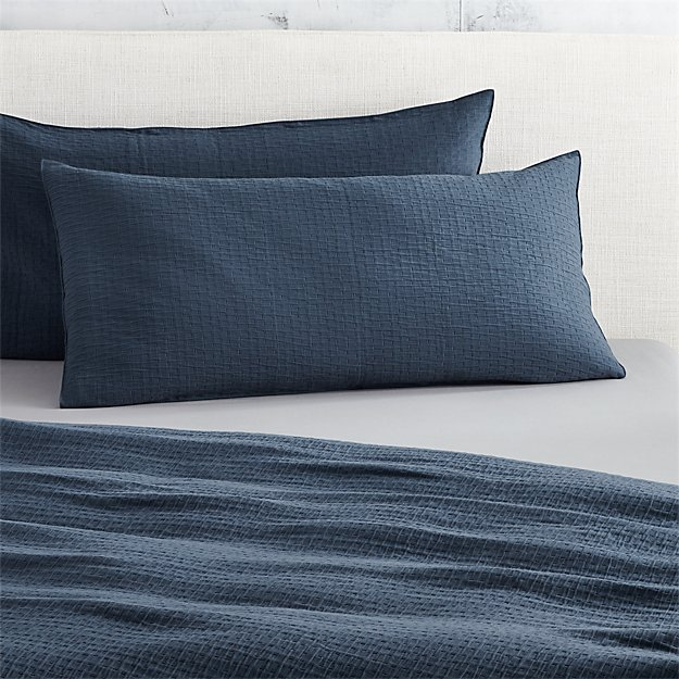 set of 2 lilo navy king shams
