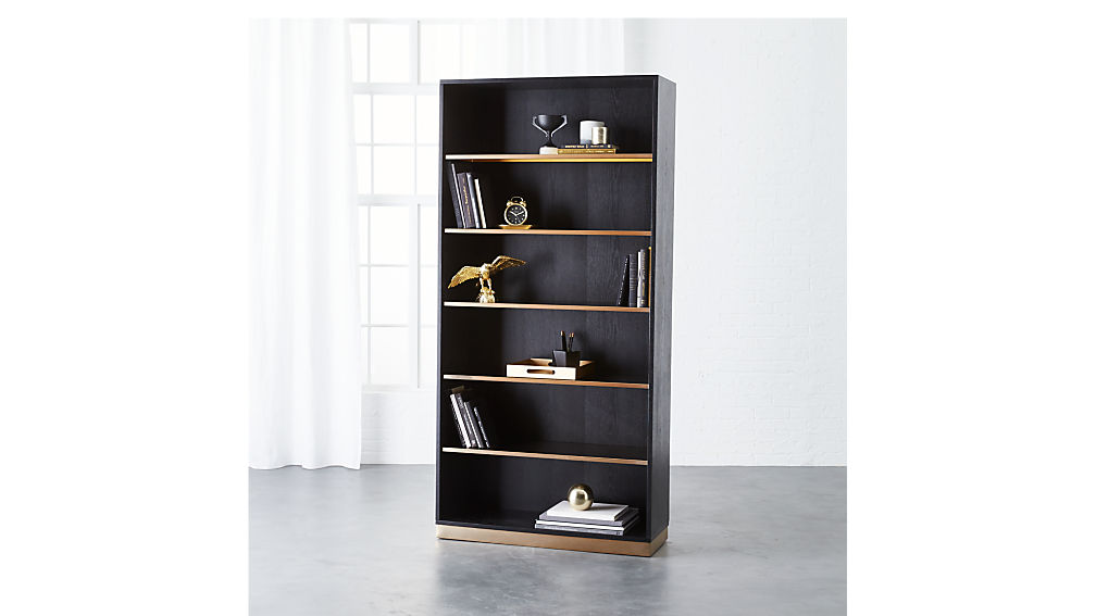 linden black bookcase