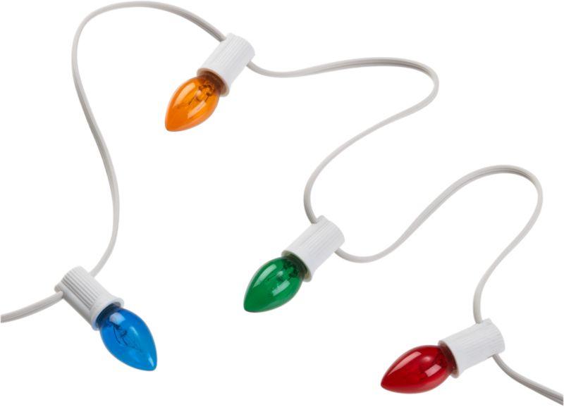 multi colored line lights