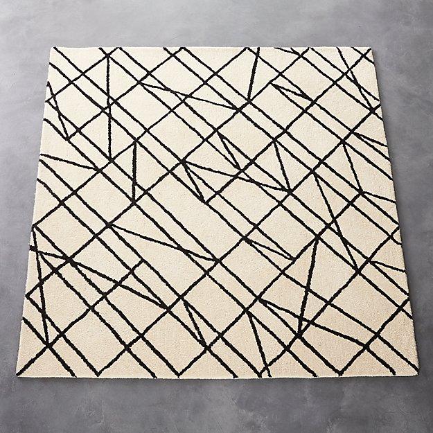 line work rug 6'x6'