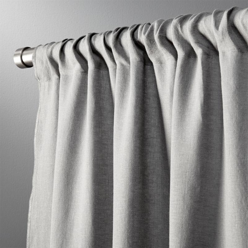 grey linen shower curtain.  natural linen curtain panel 48 x120 CB2