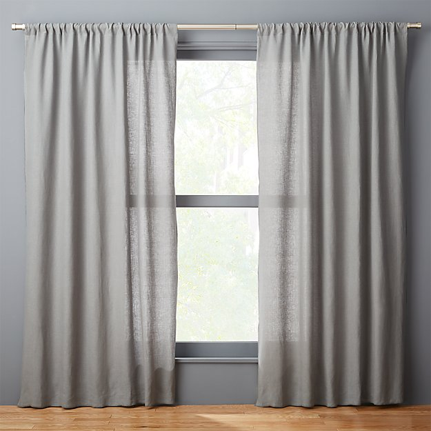 graphite linen curtain panel