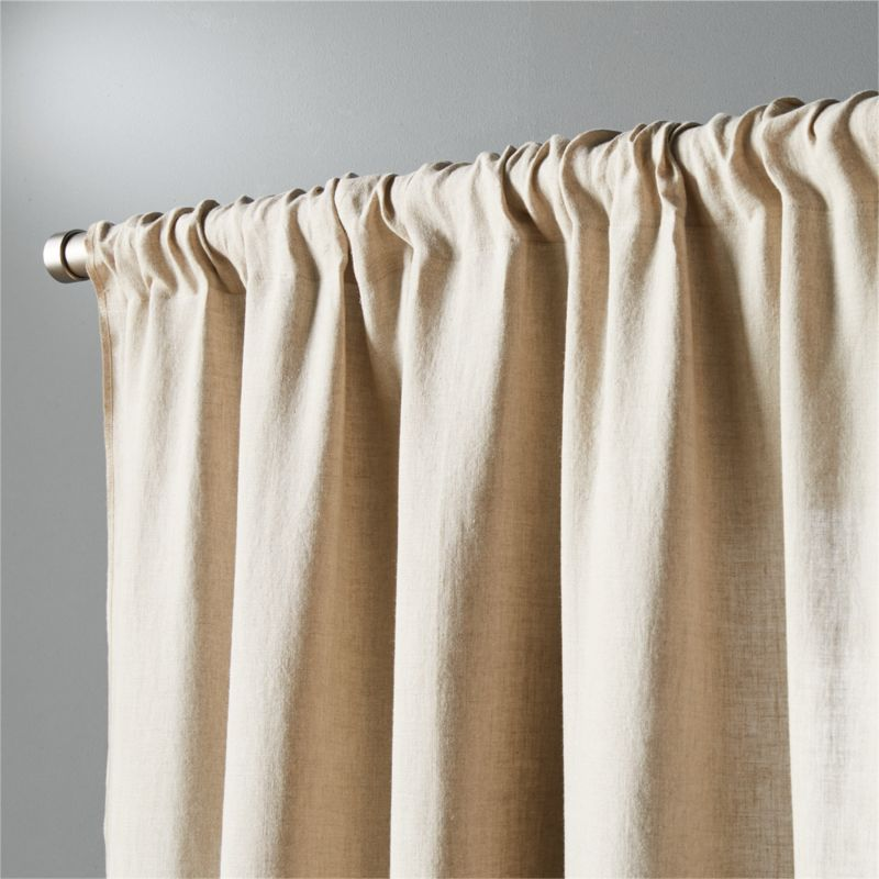 Natural Linen Curtain Panel 48 Quot X108 Quot In Curtains Reviews