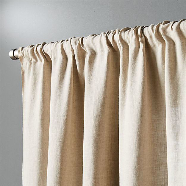 Natural Linen Curtain Panel 48 Quot X108 Quot Cb2