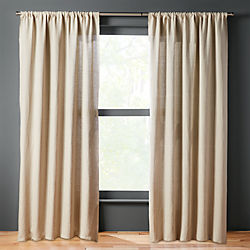 natural linen curtain panel