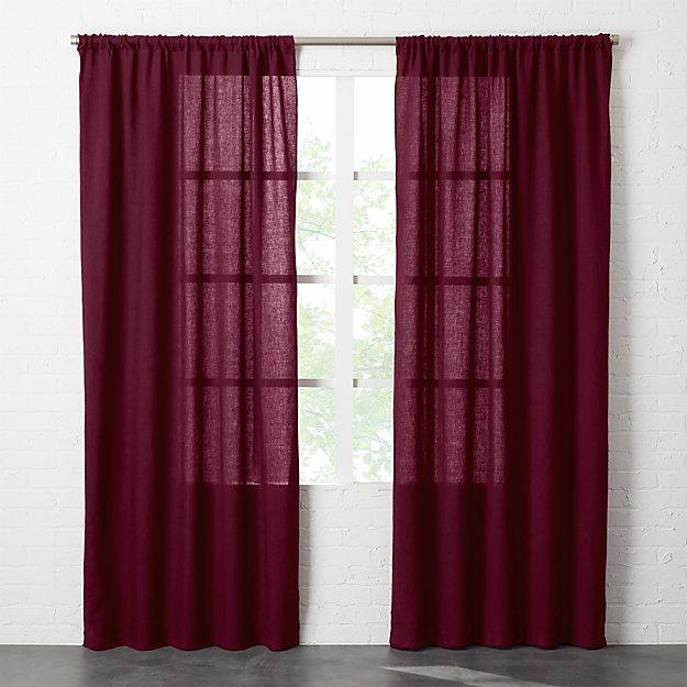 Linen Plum Purple Curtain Panel