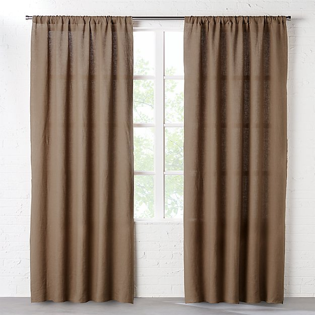 Linen taupe curtains cb2 - Taupe kamer linnen ...