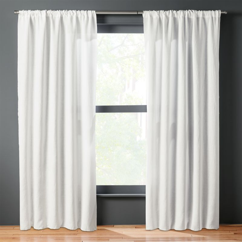 White Linen Curtains