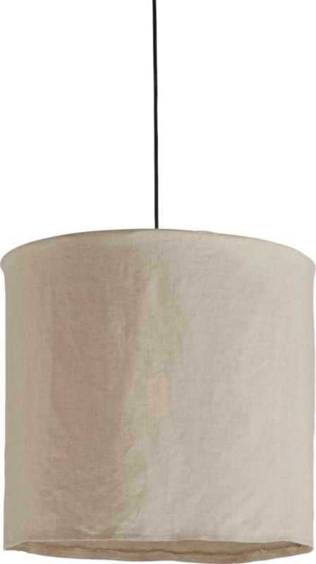 linen pendant light