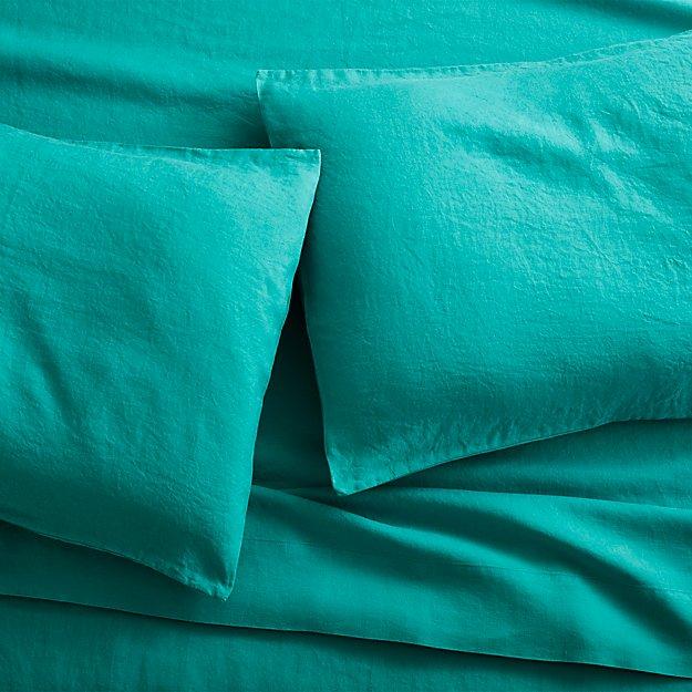 linen teal sheet sets