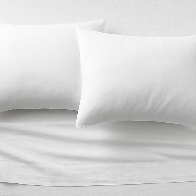 linen white king sheet set