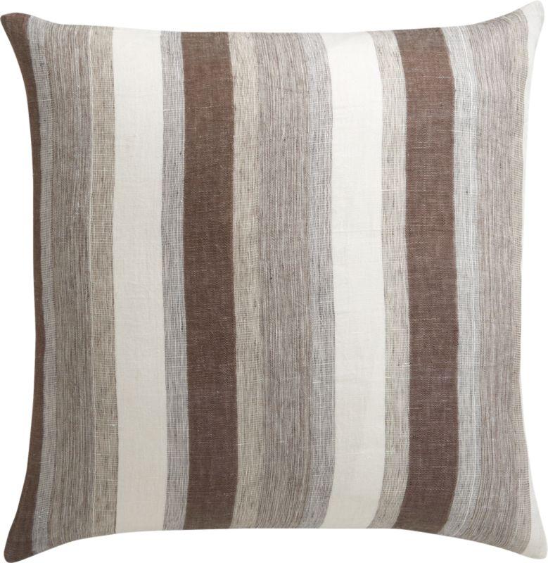 """linen tall stripe 23"""" pillow"""