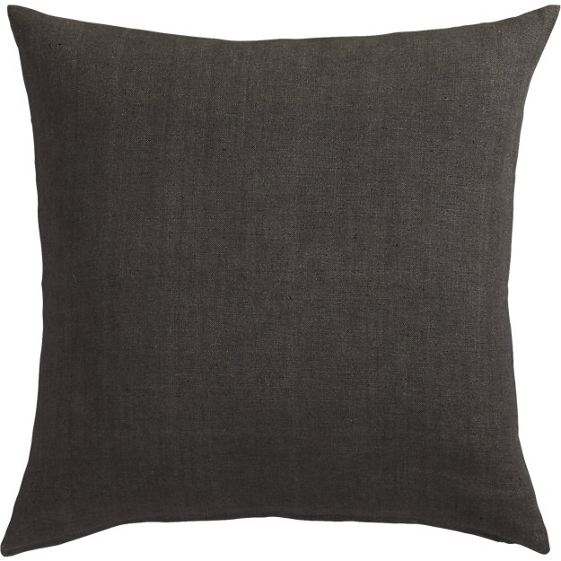 "20"" linon dark grey pillow"