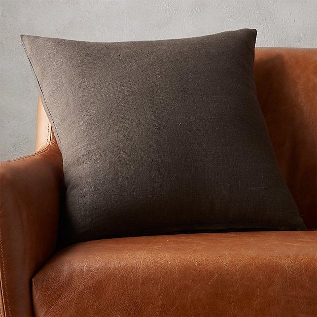 """20"""" linon dark grey pillow"""