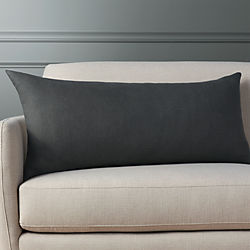 "36""x16"" linon dark grey pillow"