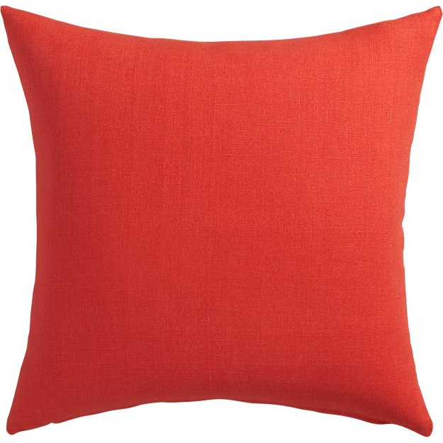 "20"" linon red-orange pillow"