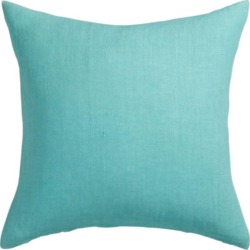"linon aqua 20"" pillow with down-alternative insert"
