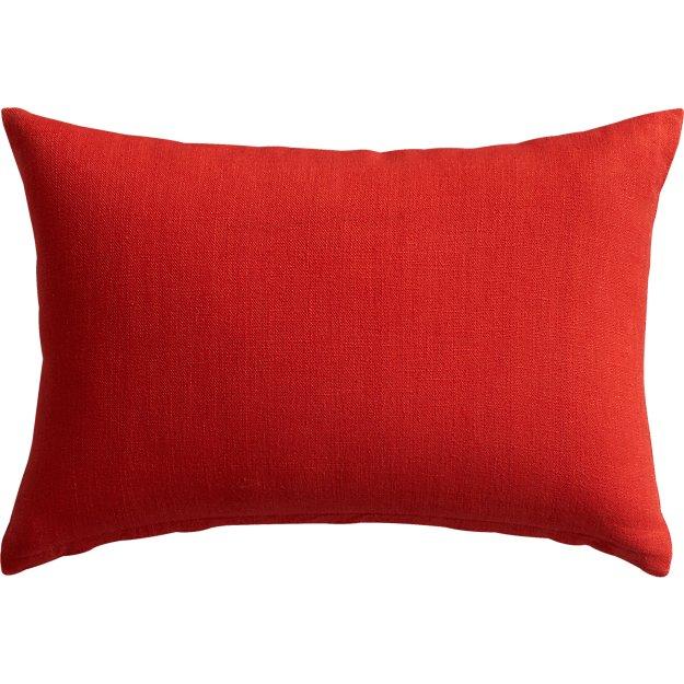 "18""x12"" linon red-orange pillow"