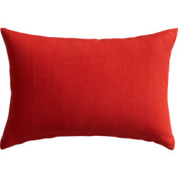 "18""x12"" linon red-orange pillow"