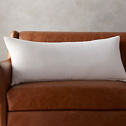 "36""x16"" linon white pillow with down-alternative insert"