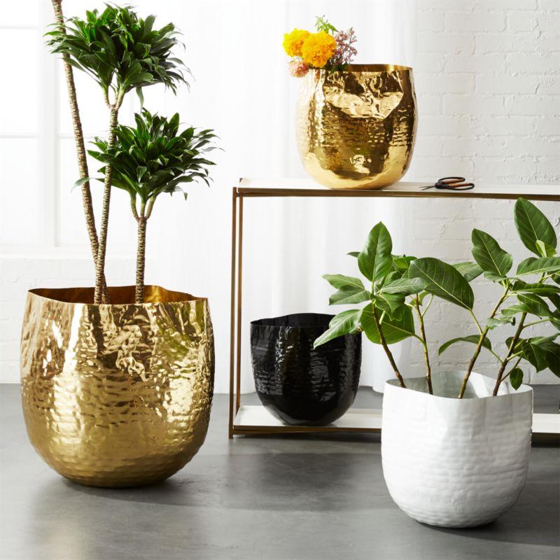 Liquid Metal Handmade Baskets Cb2