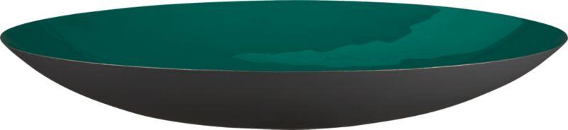 liquid blue green round bowl