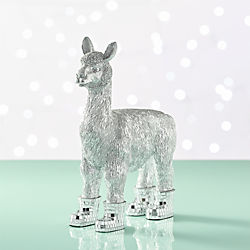 Llama With Mirror Boots