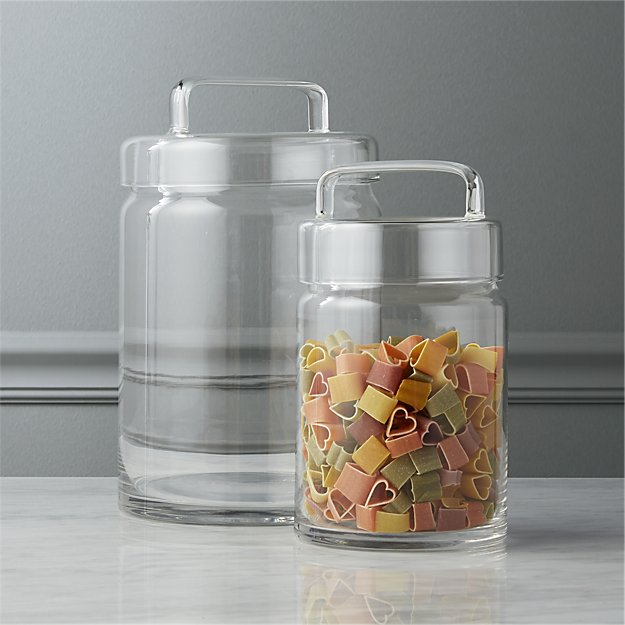 looking glass canisters